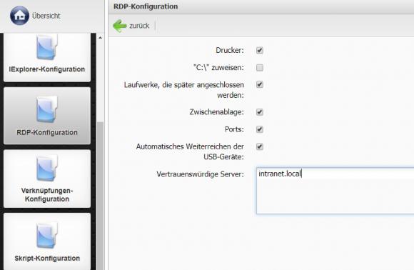 Alle Remote-Protokolle wie RDP bzw. RemoteFX können vom Administrator für jeden Thin Client individuell konfiguriert werden.