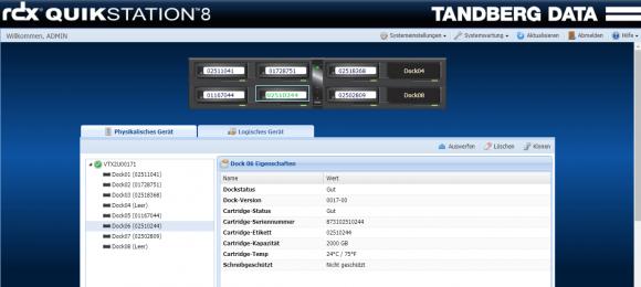 Die QuikStation-Appliance wird über eine Web-Konsole per Browser verwaltet.