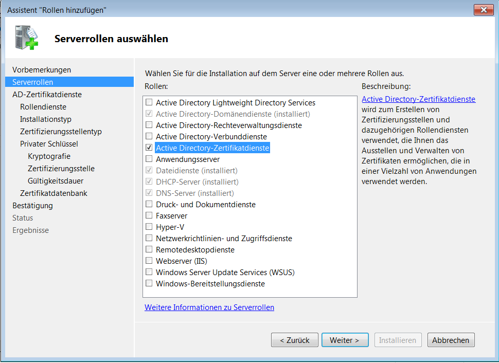 Windows Server 2008 R2 Zertifizierungsstelle Einrichten Windowspro