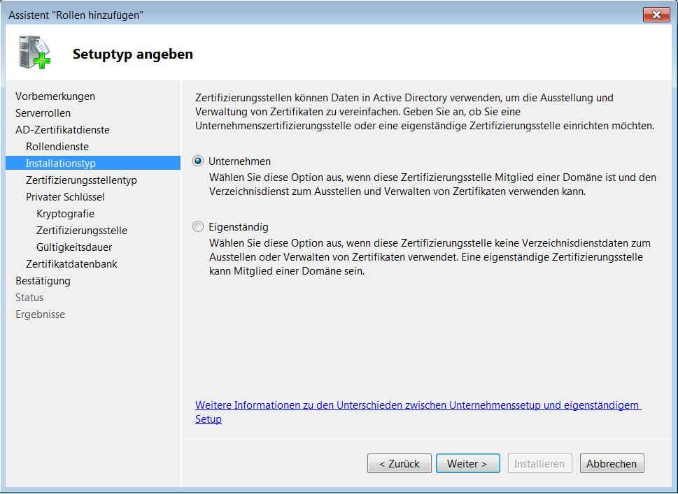 Windows Server 2008 (R2) Zertifizierungsstelle einrichten   WindowsPro