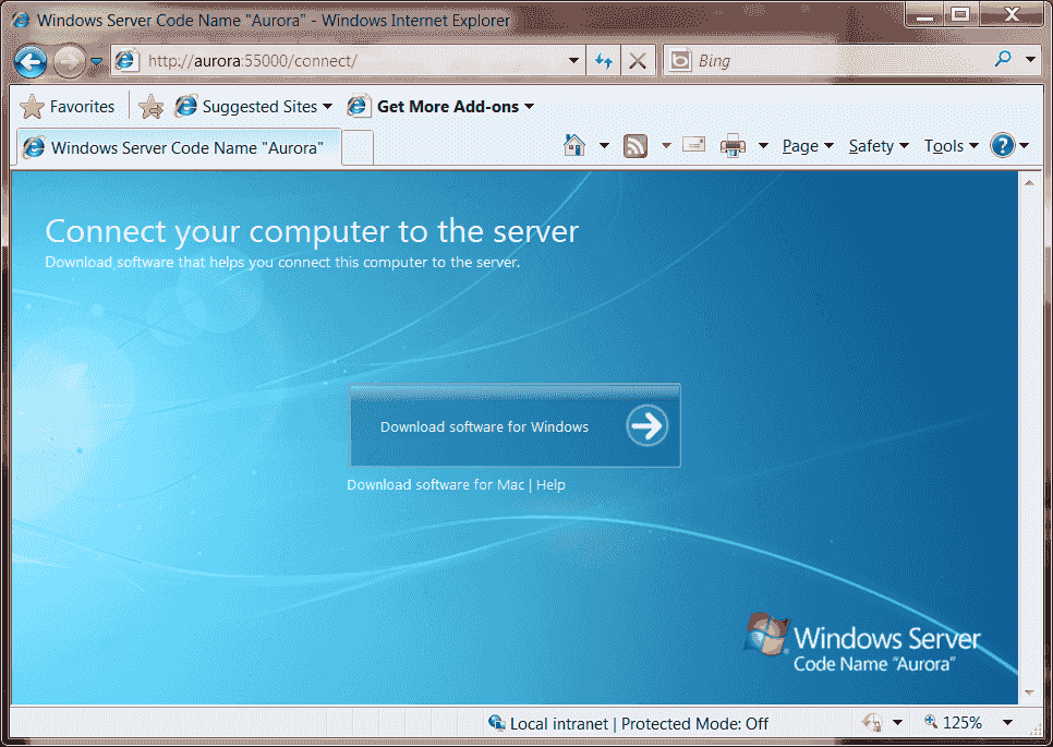 how to connect client pc to windows server 2008