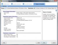 VMWare Converter – Optionen für die Konvertierung