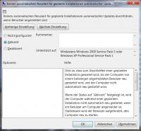 Diese Richtline verhindert den automatischen Neustart nach dem Windows-Update, solange jemand angemeldet ist