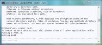 cipher.exe löscht mit dem Parameter /w freie Bereiche auf der Festplatte