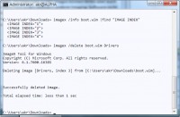 Per Image-Namen oder Indexnummer spricht man einzelne Images in der Datei an, etwa um sie zu löschen …