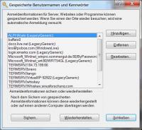 """Die """"Gespeicherten Benutzernamen und Kennwörter"""" unter Windows 7"""