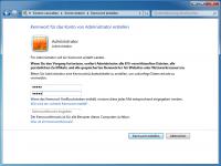 Das Passwort kann man nach der Aktivierung auch im gewohnten Benutzerkontenmanager setzen