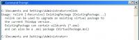 Mittels relink.exe können Pakete ohne erneutes Paketieren auf den Runtime-Stand von ThinApp 4.5 gebracht werden