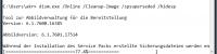 Die Sicherungsdateien für Service Pack 1 werden per dism.exe entfernt
