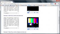 Eingebettete H.264-Inhalte sind ziemlich weit verbreitet (hier eine Testseite für Web-Autoren)