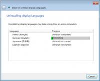 Als Lösung deinstalliert man alle Sprachpakete bis auf die Installationssprache