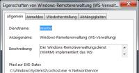 Der Windows-Remoteverwaltungsdienst (WinRM)