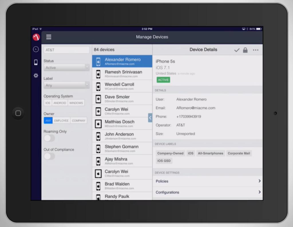 MDM: MobileIron mit Tablet-App und optimierter