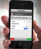 Lexmark Mobile Printing - Druckaufträge lassen sich vom Smartphone aus starten und zu beliebigen Druckern senden..