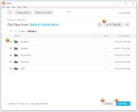 Code42 CrashPlan - Auswahl der nutzerbezogenen Daten, die zu Windows 10 migriert werden sollen.