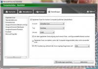 Einstellungen von Microsoft Security Essentials 2.0
