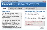 MalwareBytes - Der Decryptor für die Ransomware TeleCrypt