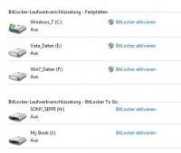 Microsoft Bitlocker ermöglicht das Verschlüsseln von Festplatten und mobilen Speichergeräten.