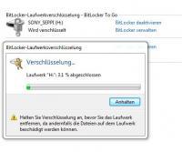 Bitlocker bietet auch das Verschlüsseln mobiler Speichergeräte wie USB-Sticks an.