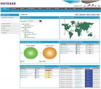 Netgear NMS300 - Dashboard mit Überblick über Art und Status von Netzwerkgeräten