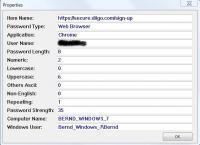 Nirsoft - Passwort Security Scanner - Testwerte eines Accounts