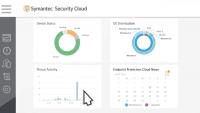 Symantec Endpoint Protection Cloud - Auf einem Dashboard sind die wichtigsten Daten zum Status von Endgeräten zu sehen.