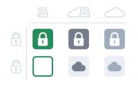 Ordner zeigen an, ob sie bei Boxcryptor nur in der Dropbox-Cloud oder auch lokal auf dem Endgerät verfügbar sind.