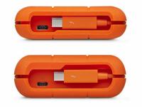 Die USB-C- beziehungsweise Thunderbolt-Schnittstelle der LaCie Rugged